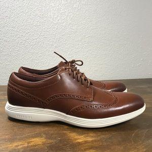 Cole Haan Mens Grand OS Dress Shoes Sz 10 Wingtip